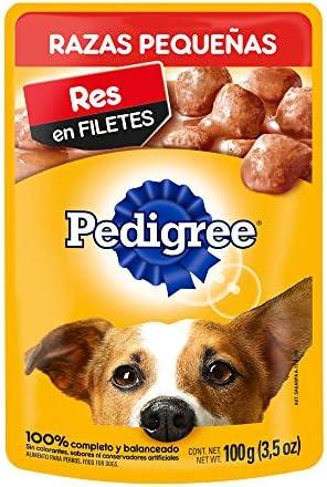 Pedigree Alimento Húmedo Razas Pequeñas Res en Filetes, paquete de 10 sobres 2