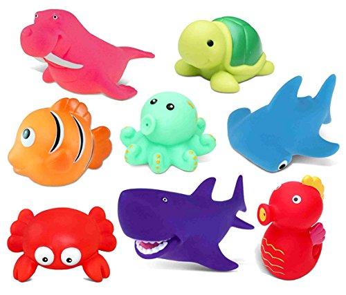 Dollibu Dollibu Dolphin Rubber Bath Toy Squirter Fuchsia Bath Buddy Fun Floater