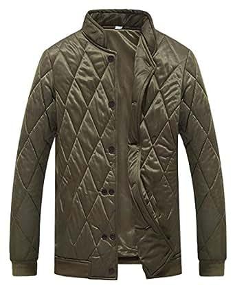 HTOOHTOOH Mens Winter Stand Collar Packable Puffer Qulited
