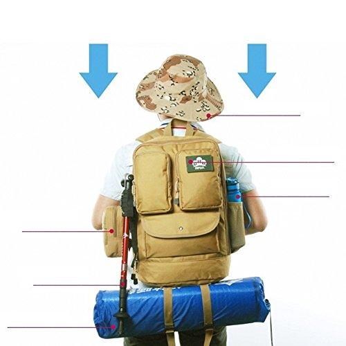 YAAGLE Outdoor Freizeit Rucksack Sporttasche Schüler Schultasche Laptoptasche Fahrradrucksack Reisetasche Schwarz