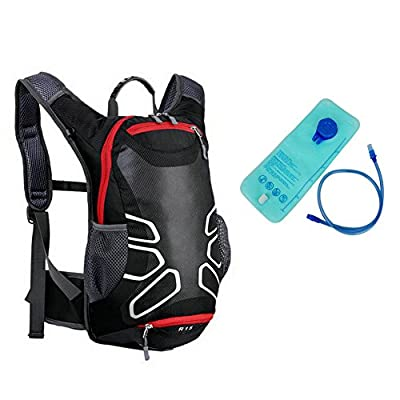 Angelbubbles MTB Bike Bicycle Cycling Riding Running Camping Hiking Waterproof Outdoor Backpack Hydration Pack with 2 Liter TPU Free Bladder