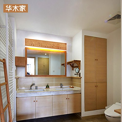 Self-My Wandleuchte Japanische Massivholz Nordische Gang Gang Gang Treppe Bad Vorderen Schlafzimmer Bett, B+Warm Weiß 18 W (65Cm) Mit Led 63b039