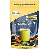 Morlife Turmeric Latte Spiced Vanilla Flavour 100g, Vegan, Gluten Free, Functional Ingredients, Certified Organic Ingredients, 25 Serves