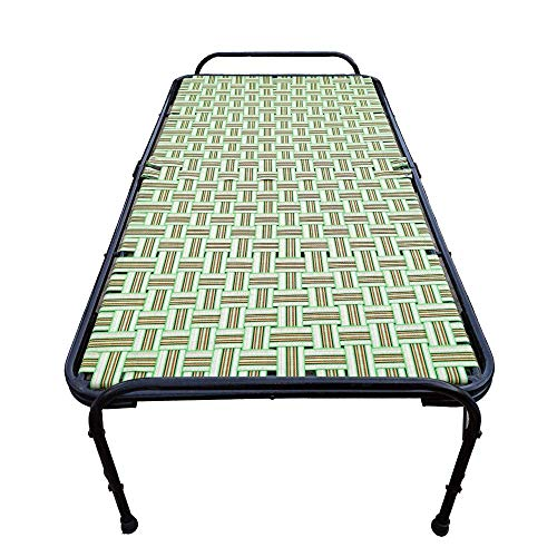 Aaram CHARPAI UDYOG Punjab Model Double Pipe Folding Bed 3×6 | Strong | Lightweight