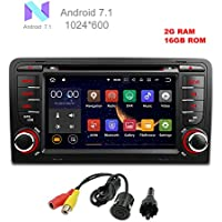 MCWAUTO For Audi A3 2003-2012 Audi S3 2003-2013 Android 7.1 Car DVD GPS Stereo Radio 2 din 7 Quad-core 1024600 with USB/SD/Steering Wheel/Bluetooth/Wifi/3G/AV-IN/16Gb Memory/Rear Camera