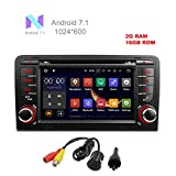 MCWAUTO For Audi A3 2003-2012 Audi S3 2003-2013 Android 7.1 Car DVD GPS Stereo Radio 2 din 7'' Quad-core 1024600 with USB/SD/Steering Wheel/Bluetooth/Wifi/3G/AV-IN/16Gb Memory/Rear Camera