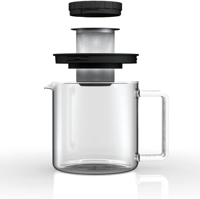 Simax Glassware 8593419382956 Simax Jug From 1.3L with metal burining, one size, clear