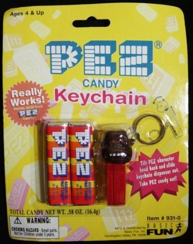 Pez Candy & Gorilla Keychain New On Card by Pez Candy ()