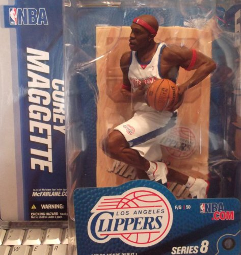 (Mcfarlane NBA Sportspicks Series 8 Corey Maggette Los Angeles Clippers White Jersey Variant)