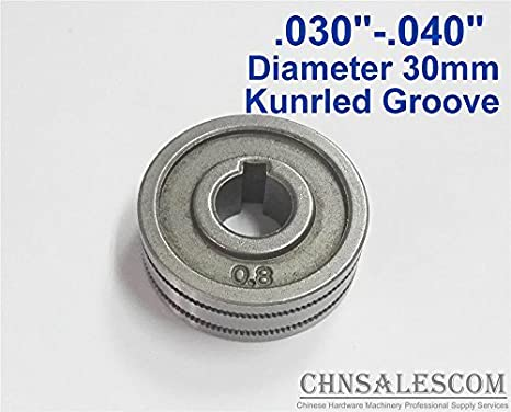 """0.6-0.8 MIG Welder Wire Feed Drive Roller Parts Kunrled Groove .030/""""-.035/"""""""