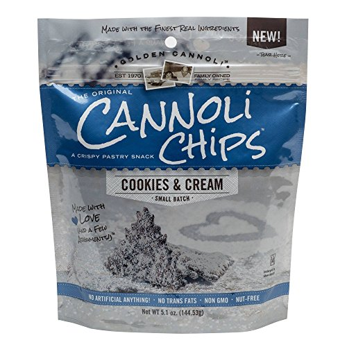 Golden Cannoli Cookies & Cream Cannoli Chips 5.1oz , pack of 1 by Golden (Image #1)