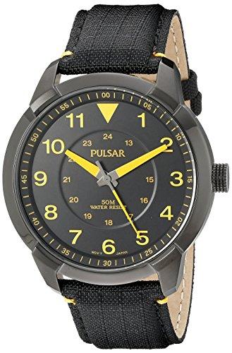 Watch Yellow Pulsar - Pulsar Men's PG2023 Analog Display Analog Quartz Black Watch