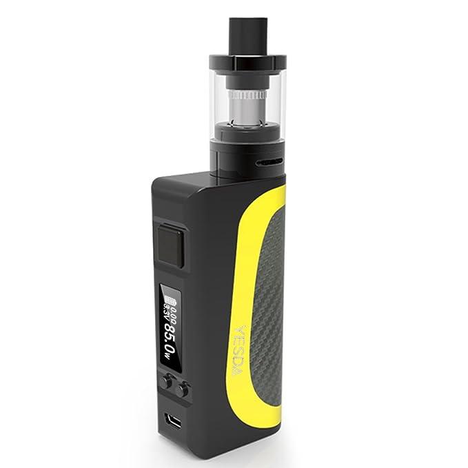 YESDA Cigarrillo Electrónico, 85W Función de Relleno a Tope Atomizer,Atomizadore Vapeador Kit de cigarrillo electrónico,de Control de Salida de Aire, ...