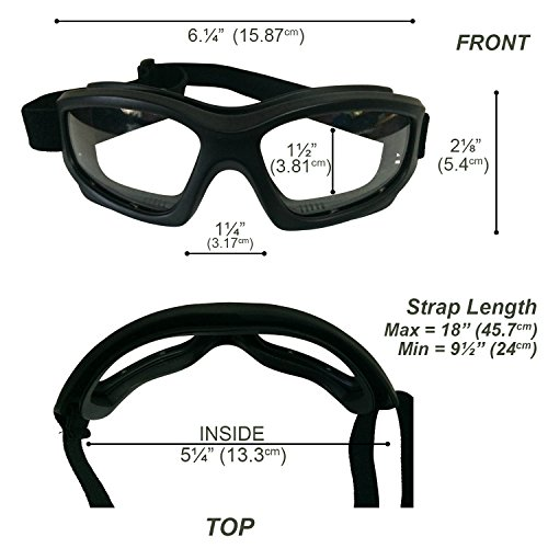 4b2707a66f Clear Motorcycle Riding Goggles  Heavy-Duty Riding Goggles