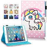 New iPad 9.7 Inch 2017 2018,iPad Air 2,iPad Air Case,MonsDirect Smart Flip Leather Stand Wallet Protective Case Auto Wake Sleep Cover for iPad 9.7 Inch 2017,iPad Air 1 2,03 Pony
