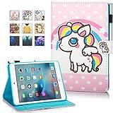 New iPad 9.7 Inch 2017 2018 / iPad Air 2 / iPad Air Case - Monstek Smart Flip Leather Stand Wallet Protective Case Auto Wake/Sleep Cover for iPad 9.7 Inch 2017 2018,iPad Air 1 2,03 Pony