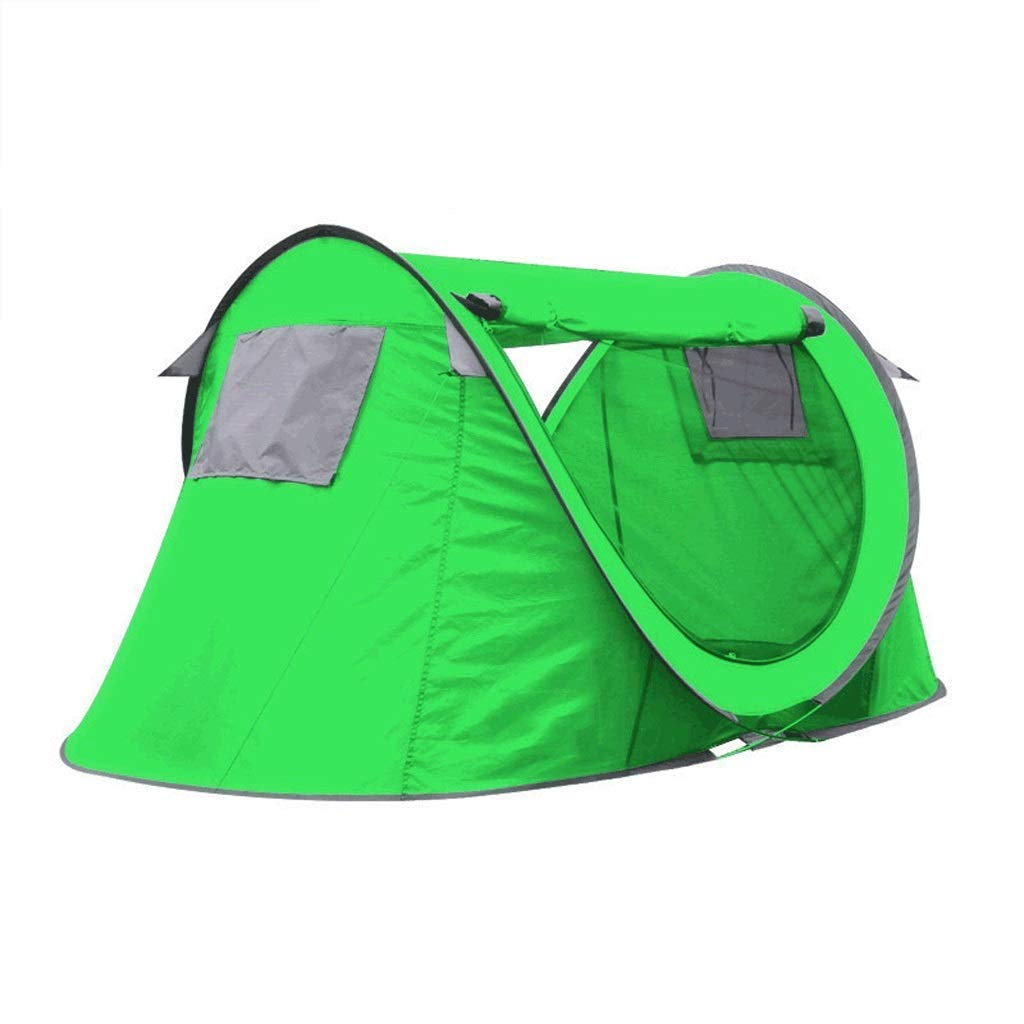 Zelt Regendicht Outdoor Automatik Doppel Park Seaside Family Camping UV-Schutz (Farbe  Hellgrün)
