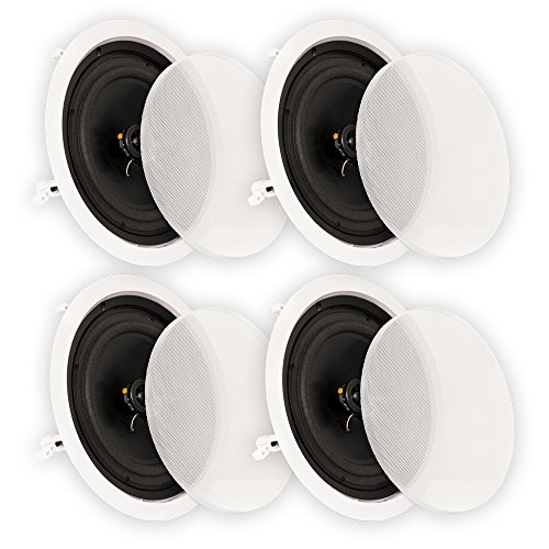 Theater Solutions CS8C In Ceiling 8'' Speakers Surround Sound Home Theater 2 Pair Pack 2CS8C by Theater Solutions