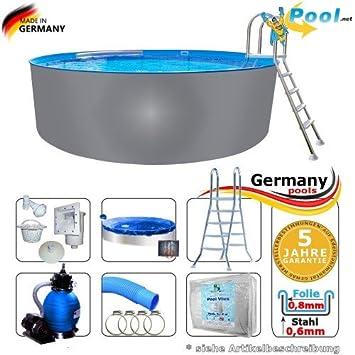 Beliebt Edelstahlpool 4,00 x 1,25 Set Pool Rundpool 4 m Swimmingpool 4,0 x ZG81