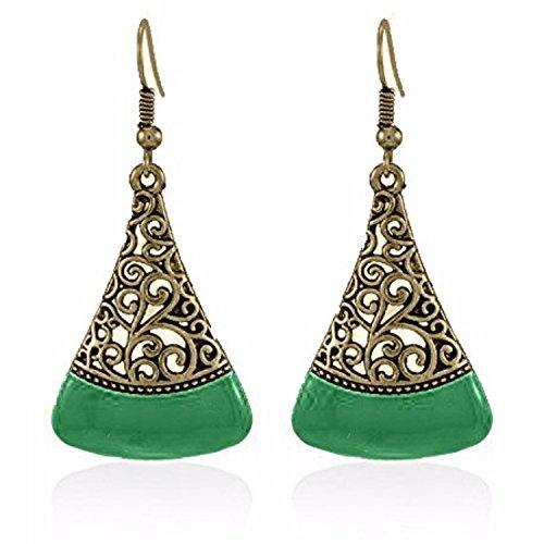 908416e15 Efulgenz Boho Jewelry Indian Vintage Ethnic Dangle Tribal Gypsy Oxidized  Golden Silver Hoops Dangle Drop Earrings