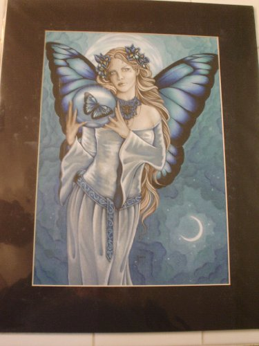 (Jessica Galbreth Shades of Blue Fairy Faery Matted Print 16