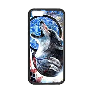 Thin Flexible Plastic Durable Case, Wolf Dream Catcher Custom Cover For Iphone 6