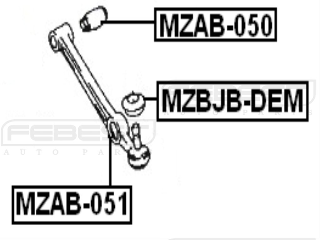 For Mazda Rear Arm Bushing for Front Arm D20134460B