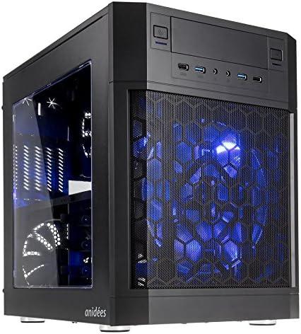 anidees AI7m Black Window Cubo Negro - Caja de Ordenador (Cubo, PC, De plástico, Acero, Negro, Micro ATX,Mini-ITX, 18 cm): Amazon.es: Informática