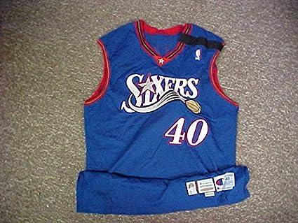 Najlepsze miejsce butik wyprzedażowy nowe niższe ceny Tyrone Hill Philadelphia 76ers Wilt Chamberlain Patch Game ...