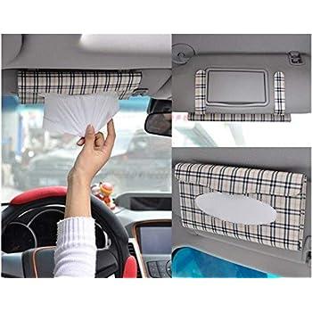 Auto Accessories Car Sun Visor Tissue Box Holder Paper Hanging Tissue Box Tool