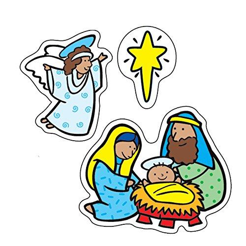 Carson-Dellosa The Nativity Shape Stickers - Great for Christmas Scrapbooks! -  Carson Dellosa Publications, CD-5289