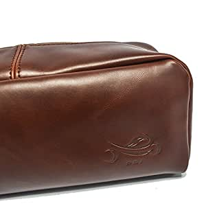 Leather Toiletry Bag (Dopp Kit) Portable Toiletry Travel & Cosmetic Organizer/Bag make up essentials