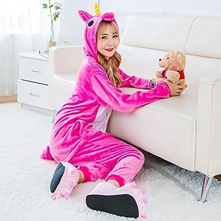 MH-RITA Flannel Cute Cartoon Winter Unicorn Pajamas For Women Pink Pegasus  Animal Pajama Sets In One Piece Pyjama Licorne Rose Red Pegasus Xl   Amazon.co.uk  ... 704b308ae