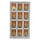 Indian Heritage Wooden Photo Frame 4x6 Mango Wood Collage in White Distress Finish (12 Photos)