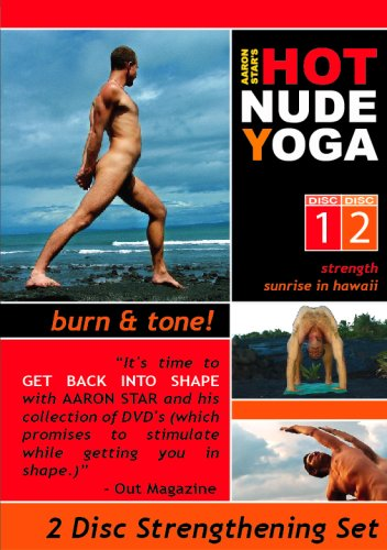 Hot Nude Yoga - Burn & Tone - 2 DVD Yoga Fitness Set For Straight & Gay Men by BlueOsa.com