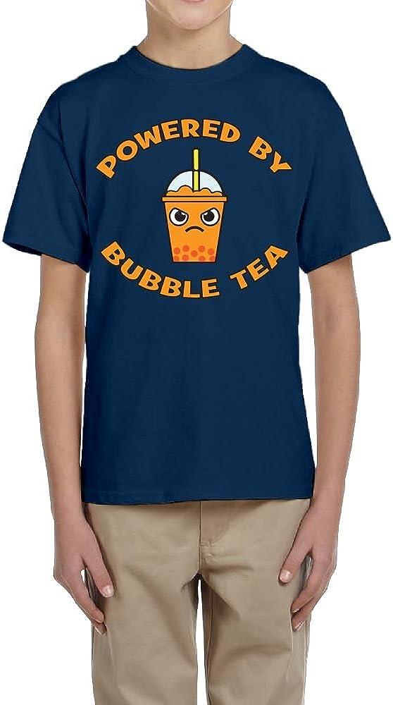 Fzjy Wnx Power by Bubble Tea Youth Crewneck Short-Sleeved of T-Shirts for Boys