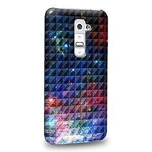 Case88 Premium Designs Art Studded Ombre Pattern Blue Nebula Carcasa/Funda dura para el LG G2