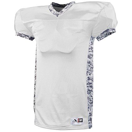 Augusta Heavyweight Jersey - Augusta Sportswear Boys' Dual Threat Jersey M White/White Digi