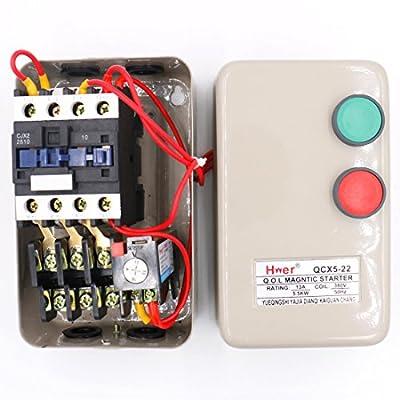 Baomain Magnetic Starter QCX5-22 380V Coil 7.5 HP 3Pole 4 NO 10-16A