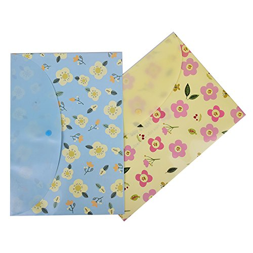 LONG7INES Cute Floral Printed File Folder, A4 Letter Document Organizer, Filing Bag with Snap Button Photo #8
