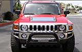 R&L Racing Black HAMMERED Stainless Steel Bull Bar Brush Bumper Grille Guard Heavy Duty 06-10 HUMMER H3/H3T