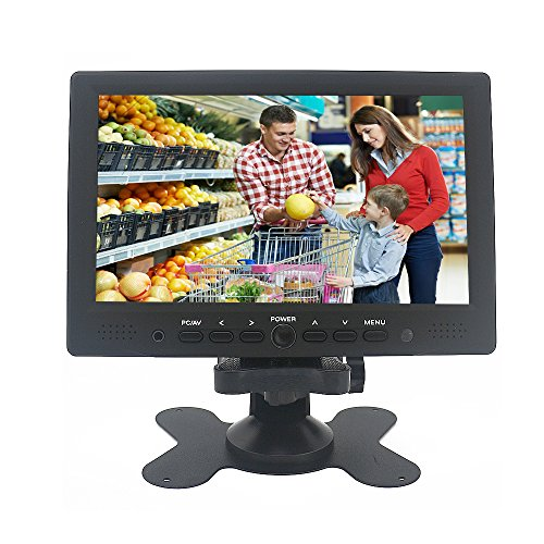 Sourcingbay YT07P Mini LCD Monitor 7'' Digital TFT LED Color Receiver Car PC Monitor HDMI/VGA/AV Input Black by Sourcingbay