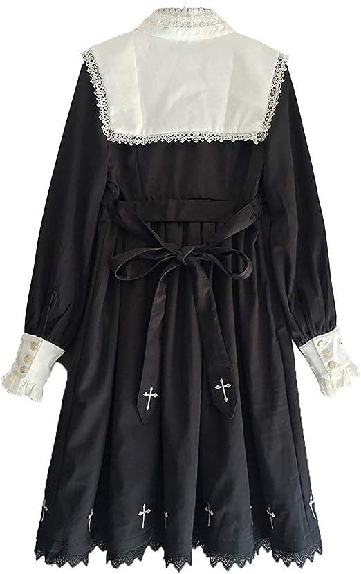Lolita Gothic Dress Vintage Cross Embroidery Princess