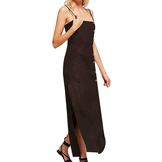 8ac1c3dee9 Hotkey® Clearance Women Dresses On Sale Solid Cocktail Party Evening Long Dress  Beach Sundress for