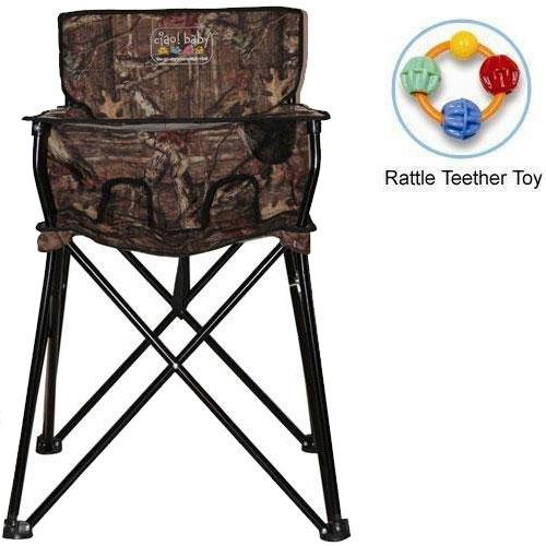Ciao baby - Portable High Chair with Rattle Teether Toy - Mossy Oak Infinity
