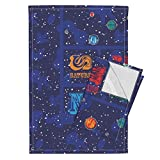 Space Astronaut Solar System Stars Alphabet Cheater Baby Tea Towels Our Solar System Cheater by Robyriker Set of 2 Linen Cotton Tea Towels