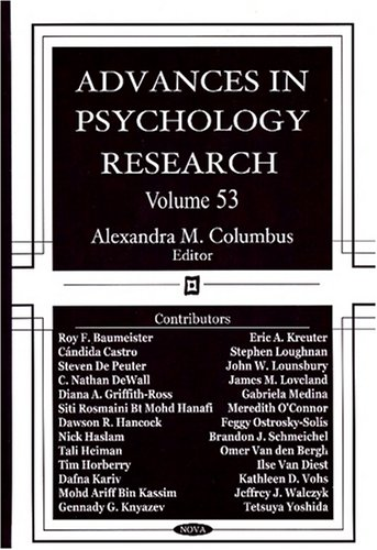 Advances in Psychology Research Volume 53