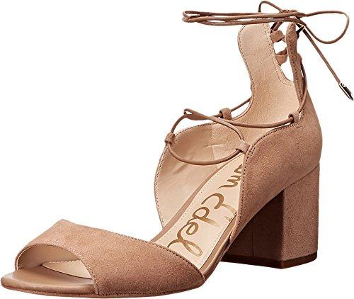 Sam Edelman Women's Serene Dress Sandal, Golden Caramel Suede, 7.5 M (Designer Block)