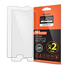Galaxy Note 4 Screen Protector, Spigen® [Tempered Glass] [2 Pack] Samsung Galaxy Note 4 Glass Screen Protector [Easy-Install Wing] [Lifetime Warranty] -2 Pack