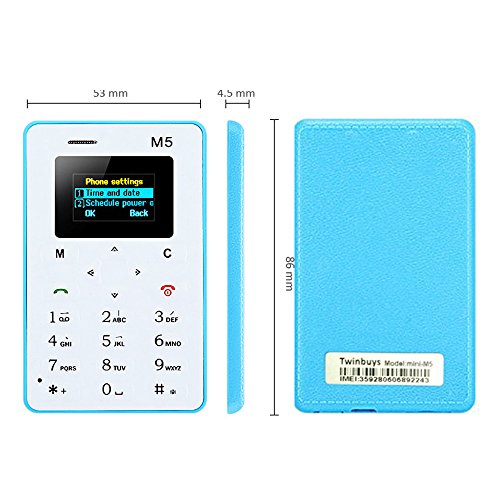 Twinbuys M5 Mini Mobile Card Phone for Basic Back Up Use